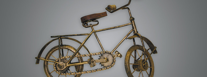 MINI BICICLETTA IN OTTONE